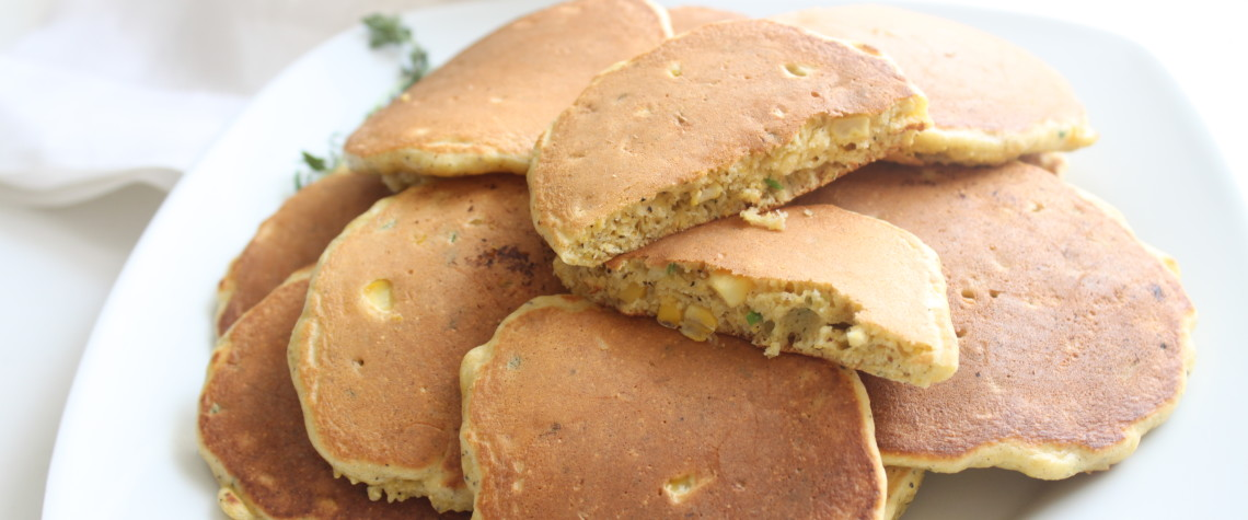 Corn and Thyme Pancakes